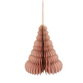 GALLA Zawieszka choinka różowa 20 cm