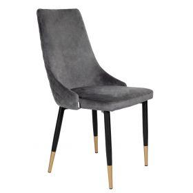 LOGAN Krzesło szare 44x44x92 cm