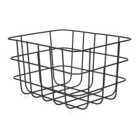 VOSS Kosz metalowy czarny 25x20x15 cm