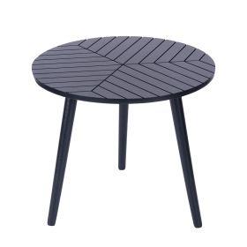 LOKKE Stolik kawowy czarny 56x56x44 cm