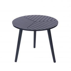 LOKKE Stolik kawowy czarny 46x46x39 cm