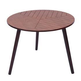 LOKKE Stolik kawowy brązowy 56x56x44 cm
