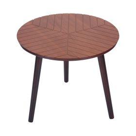 LOKKE Stolik kawowy brązowy 46x46x39 cm