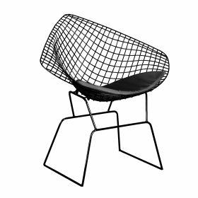 INDUSTRIAL Krzesło czarne 48x81x84 cm