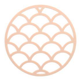 EASY BAKE Podstawka geometryczna okrągła różowa 15 cm
