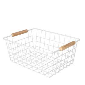 ARABBA Koszyk z uchwytami biały 29x22 cm