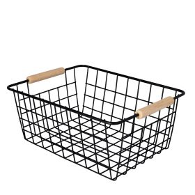 ARABBA Koszyk z uchwytami czarny 29x22 cm