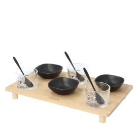 DEGGEN Zestaw do serwowania potraw na bambusowej tacy 10 szt.