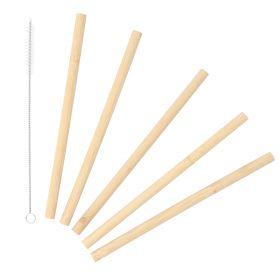 BAMBOU Zestaw słomek bambusowych 6 szt.