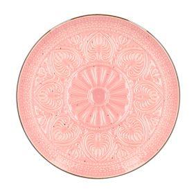 INDIE Talerz obiadowy różowy 27 cm
