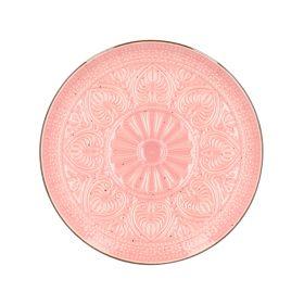 INDIE Talerz deserowy różowy 21 cm