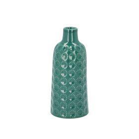 TRIES Wazon zielony 8x8x18 cm