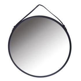 ATRO Lustro na pasku czarne 63x3x63 cm