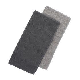 CLEAN Zestaw ścierek kuchennych szarych 2*30x30 cm