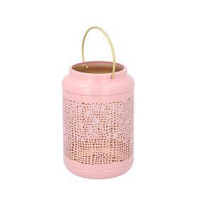 MARLA Lampion różowy 12x18 cm