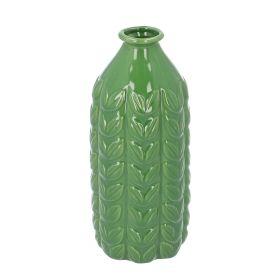 SARLA Wazon zielony 9x9x22 cm