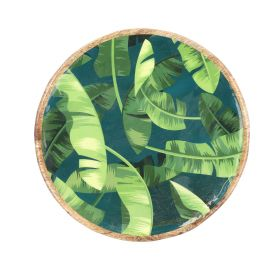 TALAI Taca okrągła z motywem tropikalnym 26x26 cm
