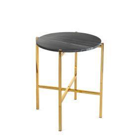 MARBLE Stolik marmurowy czarny 40x40x50 cm