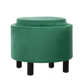 AIRA Puf ze schowkiem zielony 48x48x36 cm