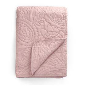 GOTA NEW Narzuta z wytłoczeniami różowa 200x220 cm