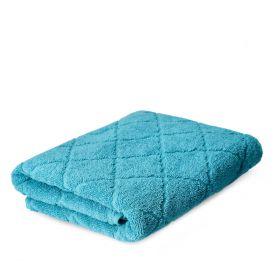 SAMINE Ręcznik z marokańską koniczyną turkusowy 70x130 cm