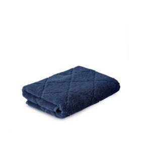 SAMINE Ręcznik z marokańską koniczyną granatowy 50x90 cm