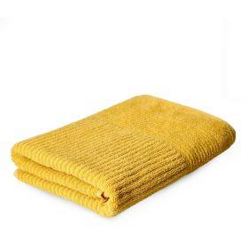 NALTIO Ręcznik w paski musztardowy 70x130 cm