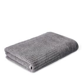 NALTIO Ręcznik w paski szary 70x130 cm