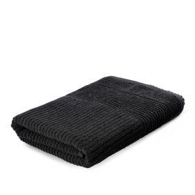 NALTIO Ręcznik w paski czarny 70x130 cm