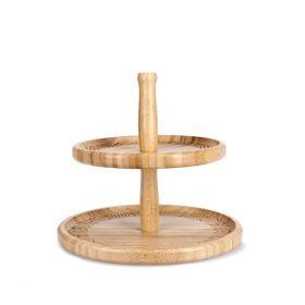 BAMBOU Patera dwupoziomowa bambusowa 25x22 cm