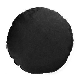CLEO Poduszka okrągła czarna 45 cm