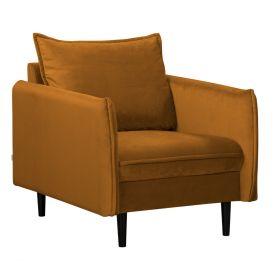 RUGG Fotel musztardowy 99x86x91 cm