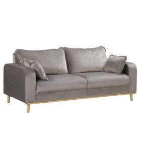 ILLA Sofa szara 193x84x88 cm