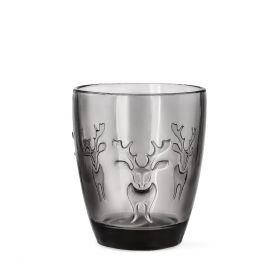 EURA Szklanka z reniferem szara 0,3 l