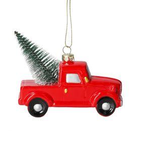 EVI Zawieszka auto czerwone 11 cm