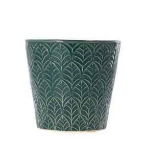 SLANO Osłonka ceramiczna zielona 13x13x13 cm
