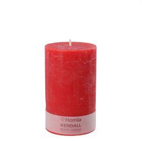 RUSTIC Świeca czerwona 7x11 cm