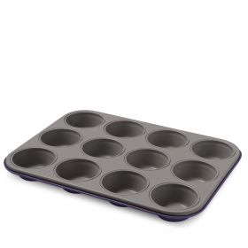 GUARDINI Forma do muffinów - 12 otworów fioletowa 27x35x2,8 cm