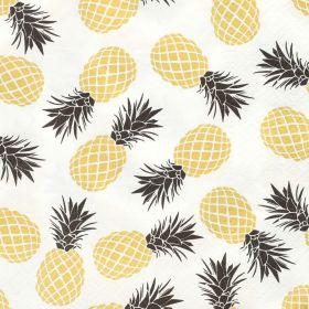 LANGUA Serwetki papierowe w ananasy 20 szt. 33x33 cm