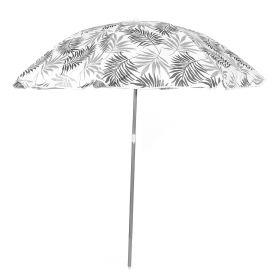 BEACH Parasol plażowy szary 100x176 cm