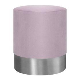 FICA Puf różowo-srebrny 35x42 cm