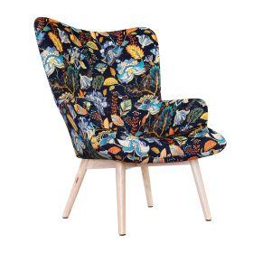 MOSS BOTANIC Fotel z motywem kwiatowym 50x96 cm