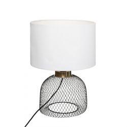 LEON Lampa stołowa biała 27x38 cm