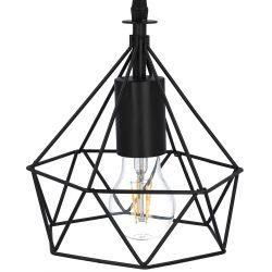 SELMA Lampa sufitowa czarna max 40W 22 cm