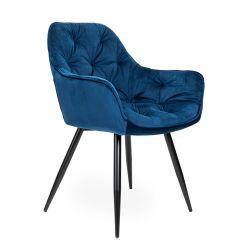 CHERRY Krzesło granatowe 45x44x83 cm