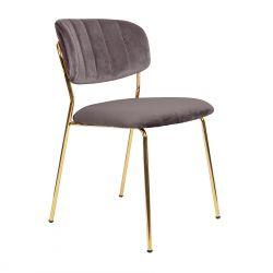CARLO Krzesło szare 49x55x80 cm