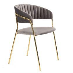 LIRA Krzesło szare 57x42x75 cm