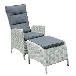 PULIA Fotel ogrodowy z podnóżkiem 57x68x101 cm