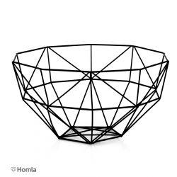 SLING Koszyk metalowy czarny 28x29 cm