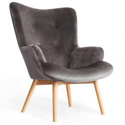 MOSS Fotel szary 72x96 cm